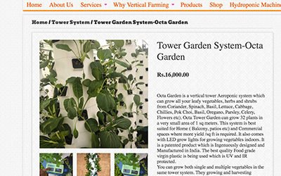 Octa Garden systems from India have nothing to do with Tower Garden systems!